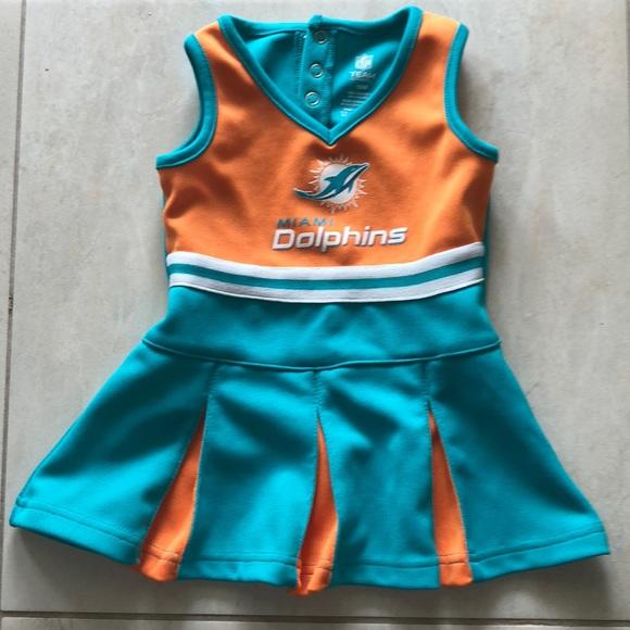 size 40 0d243 65690 NFL miami dolphins girls dress 18M Cheerleader